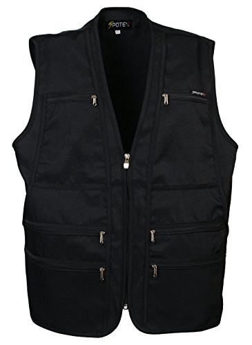 Men's 9 Pockets Work Utility Vest Military Photo Safari Travel Vest