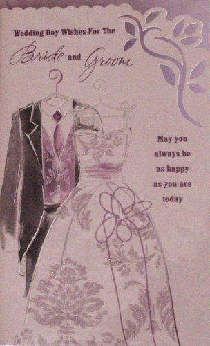 WEDDING CONGRATULATIONS CARD - WEDDING DRESS