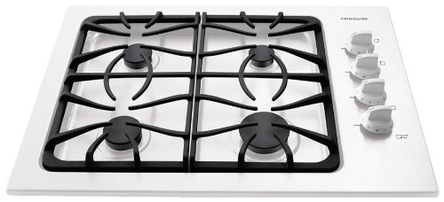"Frigidaire Ffgc3025Lw 30"" Gas Cooktop With Deep Sump Formed Cooking Area, Sealed Gas Burners And Elect, White front-143794"