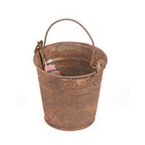 Bulk Buy: Darice DIY Crafts Rusted Tin Bucket 2-1/8 inches (6-Pack) 6500-75