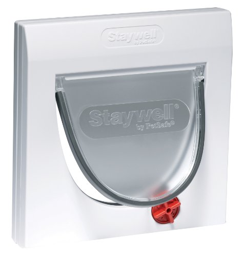Staywell-4-Way-Locking-Cat-Flap-White-919EFS