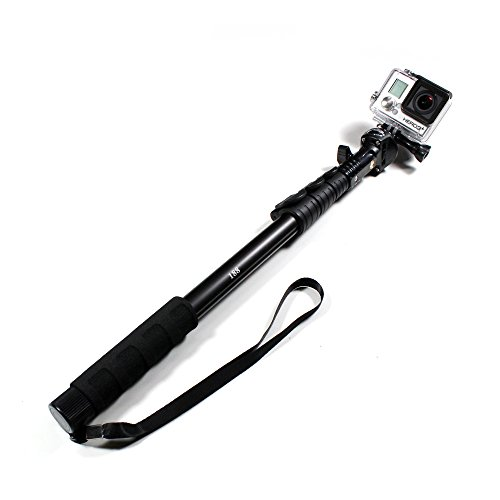 "Telescoping Extension Pole W/ Tripod Mount For Gopro Hero Cameras 18-53"" - By Techno Accessory"