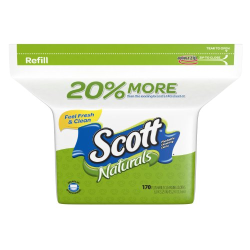 Scott Moist Wipes Refill (170 Wipes) (Scott Natural Wipes compare prices)