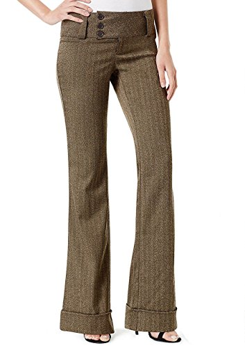 Alloy Apparel Women's Stanton Trouser 7 35 Brown Tweed