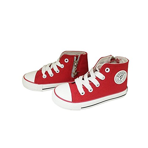 Also Easy Fashion Kids' Chuck Taylor Side Zip High Sneaker Cyan Space 4 colors available Red10 M US Toddler Hot