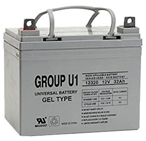 12V 32Ah U1 Gel Golf Cart Battery