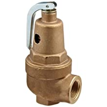 "Apollo Valve 10-600 Series Bronze Safety Relief Valve, ASME Hot Water, 150 psi Set Pressure, 1"" NPT Female"