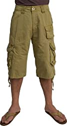 MENS sizes:30-54 MILITARY-STYLE CARGO POCKET HEAVY COTTON CANVAS SHORTS #1048-S