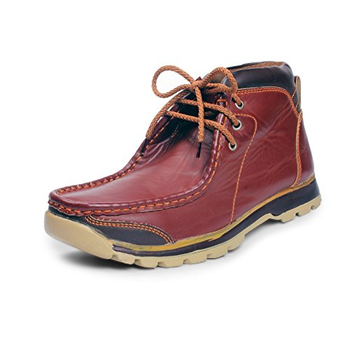 BACCA BUCCI MEN Brown Synthetic BOOTS 07 UK  available at amazon for Rs.599