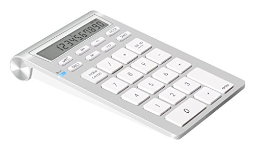 Clavier Numérique sans fils Alcey Bluetooth avec Fonction Calculatrice pour iMac, MacBooks,PCs et ordinateurs portables