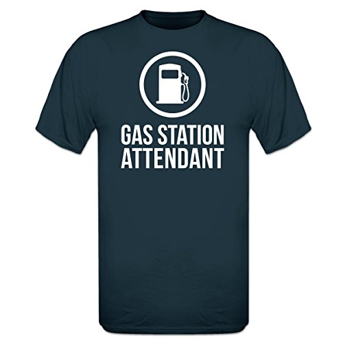 Shirtcity Gas Station Attendant Logo T-Shirt L Blue (Gas Station Shirt compare prices)