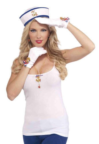 Lady In The Navy Gloves Adult Accessory - 1