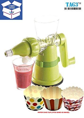 Tag3 Original Shreeji Fruits & Vegetable Hand Juicer - FREE RUBIK'S CUBE AS SHOWN IN IMAGE