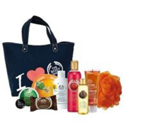 The Body Shop Canvas Tote Bag Plus 10 Products