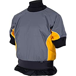 NRS Stampede Shorty Play Jacket - Men\'s Gray/Yellow, XL
