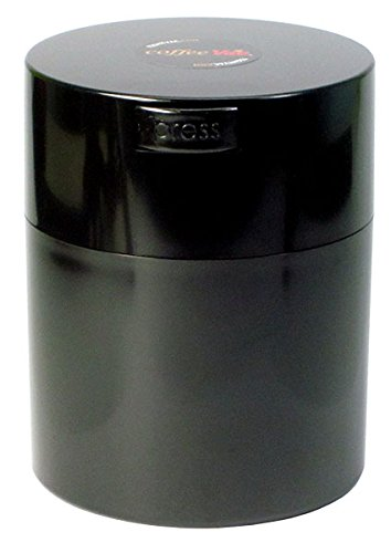Coffeevac 1/2 lb - The Ultimate Vacuum Sealed Coffee Container, Black Cap & Body (Vacuum Sealed Weed Container compare prices)