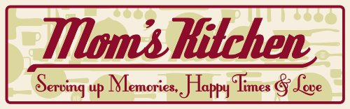 My Word 5.75 x 16-Inch Sign, Mom's Kitchen