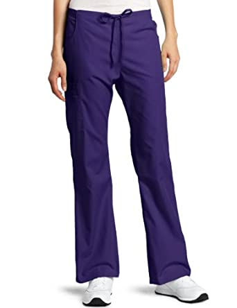 Dickies Scrubs Women's Back Elastic Cargo Pant, Purple, X-Small