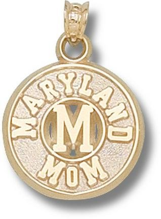 Maryland Terrapins Maryland Mom Pendant - 14KT Gold Jewelry by Logo Art