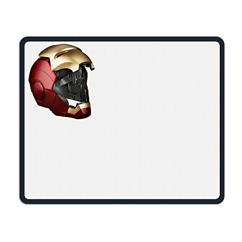 [TANGDANMEI Captain Iron Man Helmet Open Mouse Pad Non-slippery Rubber Base] (Easy To Make At Home Superhero Costumes)