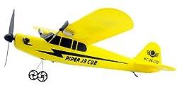 大空を駆ける33cmのビッグサイズ パイパー J-3 カブ 2ch セスナ型ラジコン【イエロー】電動 飛行機