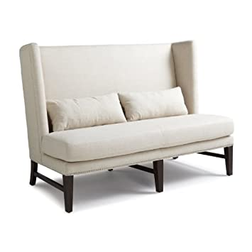 Sunpan Imports 2299 Malibu Loveseat Neutral Linen-Look Fabric - Espresso
