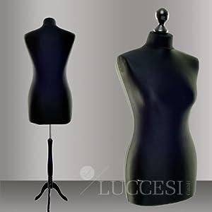 luccesi buste de couture mannequin femme taille size m 36 38 housse couleur noir pied. Black Bedroom Furniture Sets. Home Design Ideas