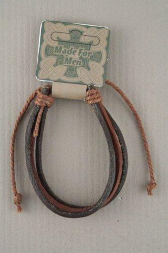 Mens Urban Tribal Leather Wristband - Surfer Bracelet
