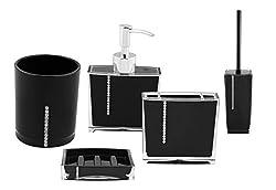 Premsons Diamond Bathroom Set-Black