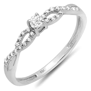 Sonia Jewels Sterling Silver Simulated Peridot /& Diamond Ring 2mm