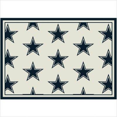 NFL Team Repeat Dallas Cowboys Football Rug Size: 10'9