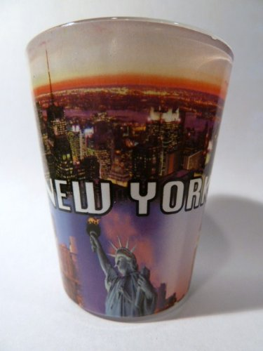 New York City Postcard 317 Shot Glass
