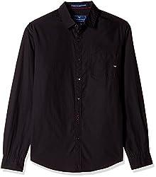 Freehand Men's Casual Shirt (FHS106A_Medium_Black)