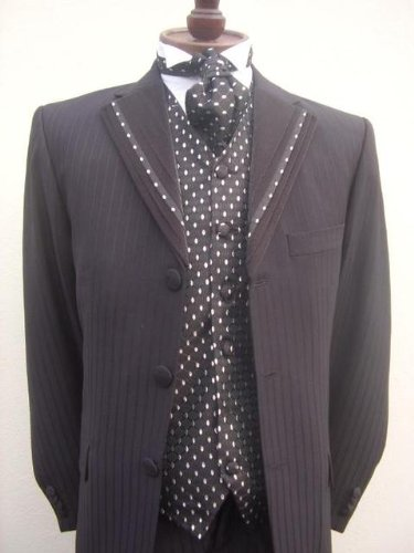 Mens black dress wedding suit package outfit 34 36 38 40 42 44 46 48 50 52 54