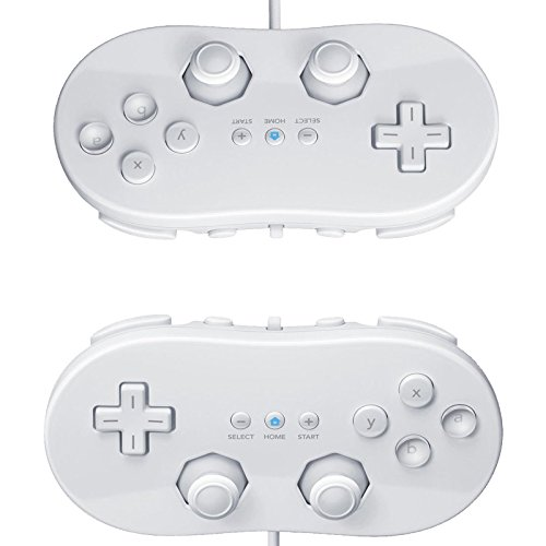 2X White Classic Pro Controller for Nintendo Wii Remote (Gameboy Color Gameshark compare prices)
