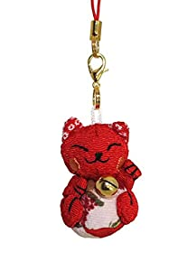 lucky cat smartphone cell phone charm