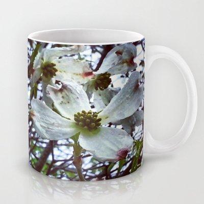 Society6 - Dogwood Blossoms In The Rain Coffee Tea Mug By Geni