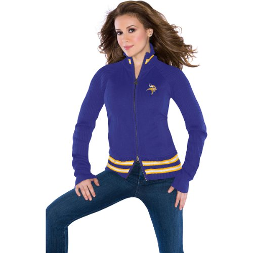 NFL Touch by Alyssa Milano Minnesota Vikings Ladies Mix Full Zip Jacket - Purple (X-Small) at Amazon.com
