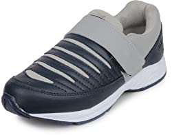Beonza Mens Grey Synthetic Leather Sports Shoes-7