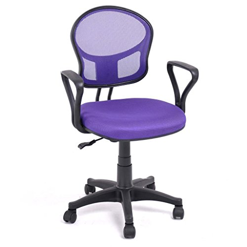 Furniturer 360 Swivel Purple Mesh Office Computer Desk