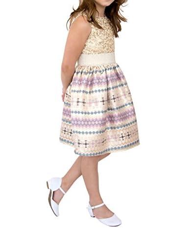 Blush Kid's Sequin & Brocade Tank Dress