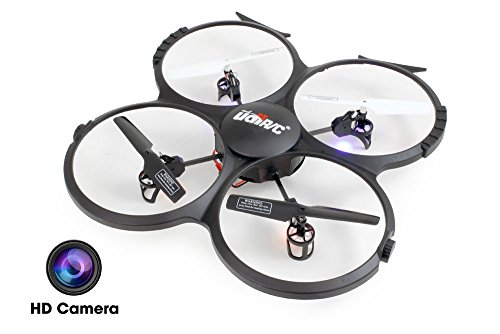 UDI U818A-HD 2.4GHz 4 CH 6 AXIS Headless RC Quadcopter w/ HD Camera, Extra Battery and Return Home Function by UDI RC