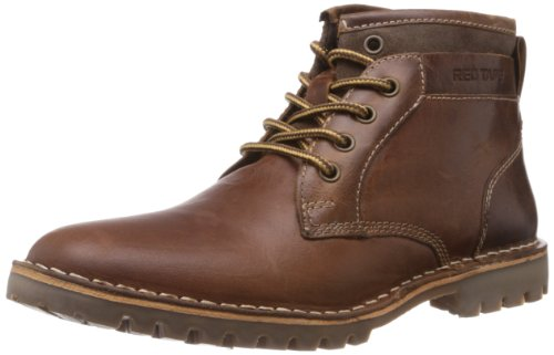 Red Tape Men's RTS7753A Brown Leather Boot- 10 UK