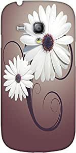 Snoogg Two Flowers Retro Background Designer Protective Back Case Coverfor Sa...