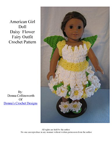 Dairy Flower Fairy Outfit for American Girl Dolls Crochet Pattern