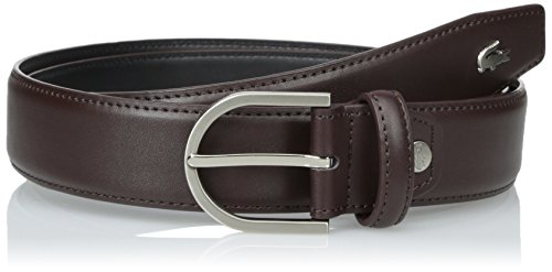 Lacoste Men's Premium Smooth Leather Belt with Metal Croc, Brown, 37 (Lacoste Belts compare prices)
