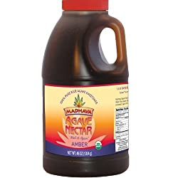 Madhava Organic Agave Nectar - Amber 46-Ounce (Pack of 6)