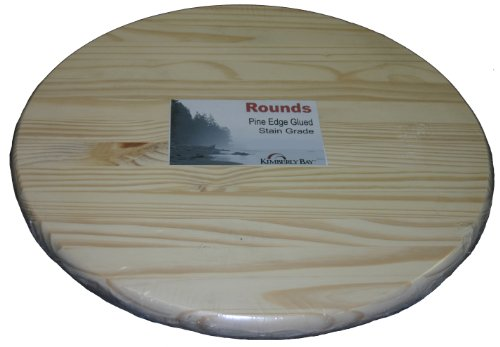 Snavely Internatl ZPRLR0118 Edge Glued Pine Round (Glued Panel Round Board compare prices)