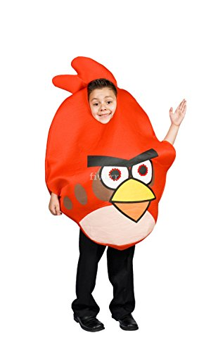 [Angry Bird Costume Red for Kids Light up eyes Size S M 4 5 6 7 8 9 (S 4-6)] (Bird Halloween)
