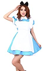Simplicity® Alice in Wonderland Inspired Costume, Apron, Headband, Gloves, Blue